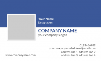 IT Company  Horizontal Business Card