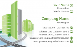 Construction  Horizontal Business Card