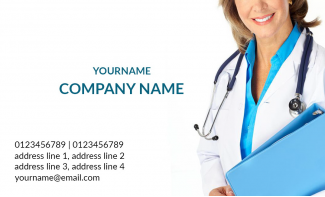 Doctor's Horizontal Business Card