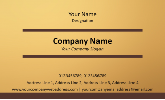 Musician Horizontal Business Card
