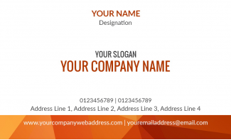 Abstract  Horizontal Business Card