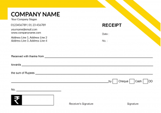 Yellow and Black Receipt Book