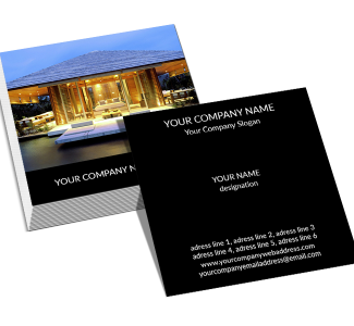 Interior Designer Square Business Card