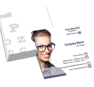 Opthomologist Square Business Card