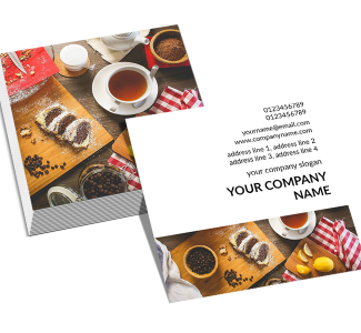 Bakery Square Double Side Business Card
