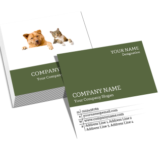 Lawyer Square Double Side Business Card