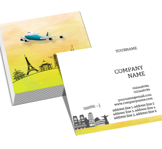 Travel Square Double Side Business Card