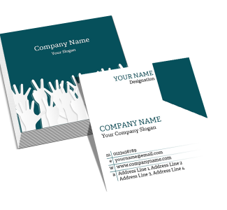 Office Square Double Side Business Card
