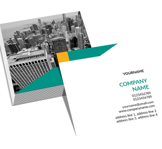 Construction Square Double Side Business Card