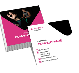 Employee Square Double Side Business Card