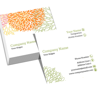 Florist Square Double Side Business Card