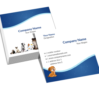 Pet Clinic Square Double Side Business Card
