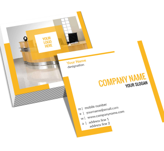 Yellow Square Double Side Business Card