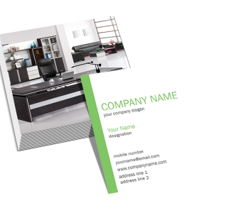 Corporate Square Double Side Business Card