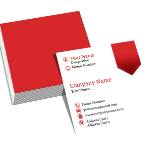 Tailor Square Double Side Business Card