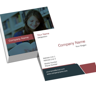 Business Square Double Side Business Card