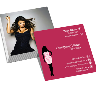 Fashion Square Double Side Business Card