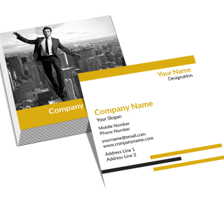 Library Square Double Side Business Card
