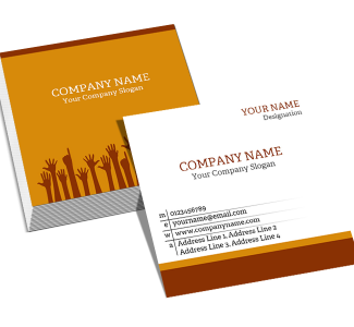 Company Square Double Side Business Card