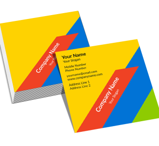 Colorful Square Double Side Business Card