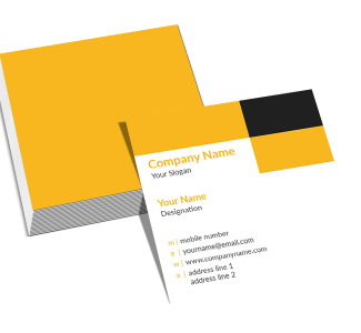 Academy Square Double Side Business Card