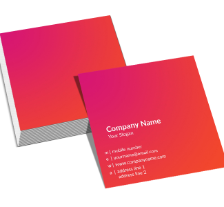 Premium Pink Square Double Side Business Card