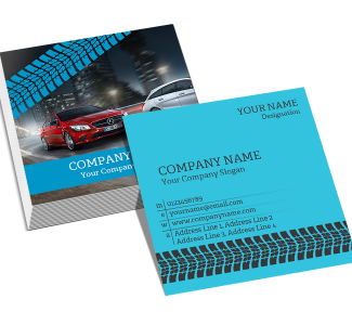 Tyre Dealers Square Double Side Business Card