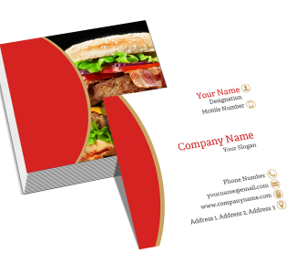 Red Square Double Side Business Card