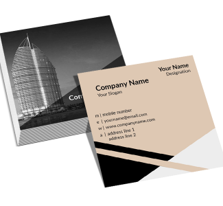 Contractor Square Double Side Business Card