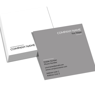 Grey Square Double Side Business Card