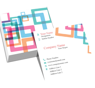 Colorful Pattern Square Double Side Business Card