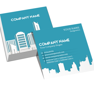 Architect Square Double Side Business Card