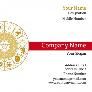 Astrology Square Business Card