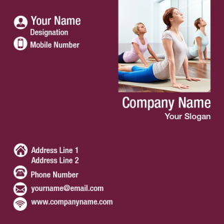 Yoga  Square Business Card