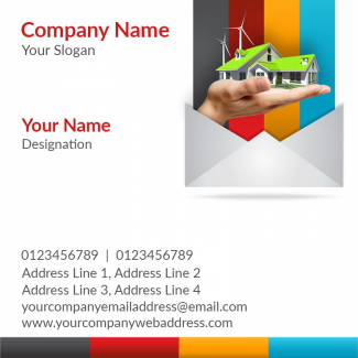 Construction Company  Square Business Card
