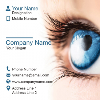 Eye Care Square Business Card