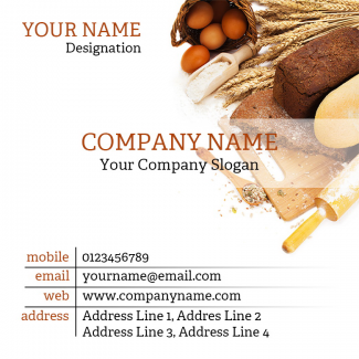 Bakery  Square Business Card