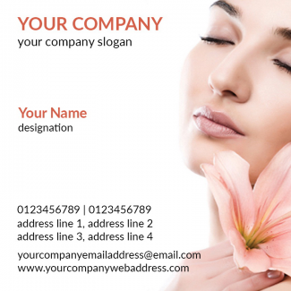 Beauty Spa Square Business Card