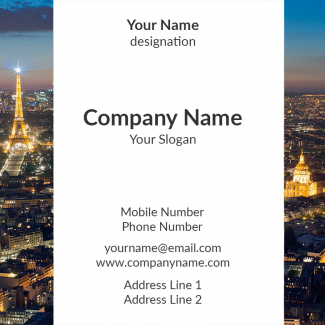 Travels Company  Square Business Card