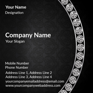 Premium Square Business Card