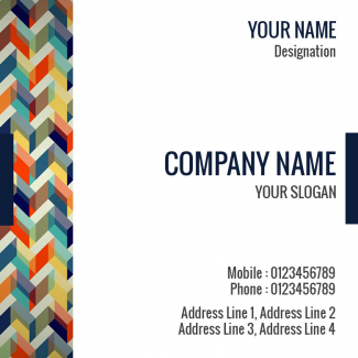 Abstract  Square Business Card
