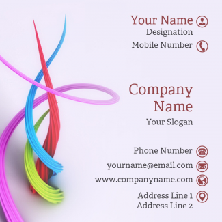 Automobiles Square Business Card