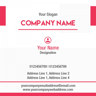 Consultancy  Square Business Card