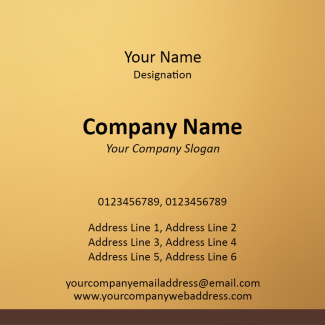 Musician Square Business Card
