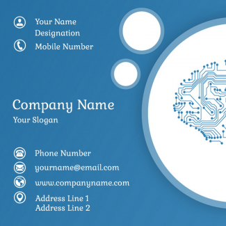 Computer Spare parts Square Business Card