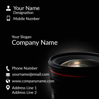 Photography Square Business Card