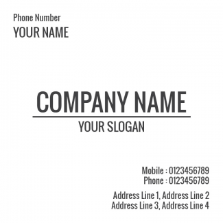 Doctor's Square Business Card