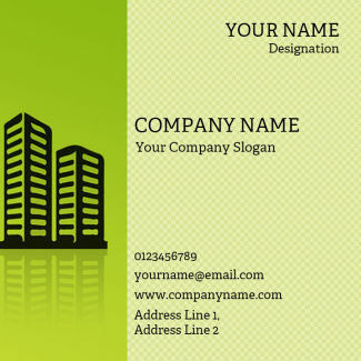Construction  Square Business Card