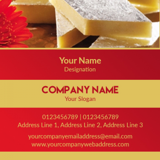 Sweet Shop Square Business Card
