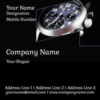 Watch Shop Square Business Card